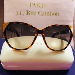 C H L O E Dk.Brn Sunglasses NWT
